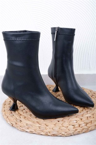 BOTTinka Bell Shoes525 KADIN BOT   SİYAH CİLT