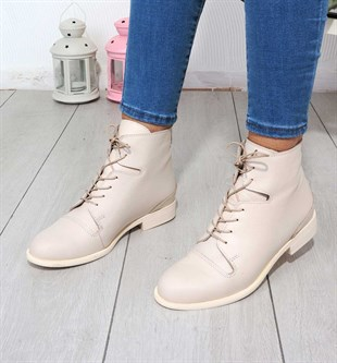 BOTTinka Bell Shoes612 KADIN DERİ BOT   BEJ